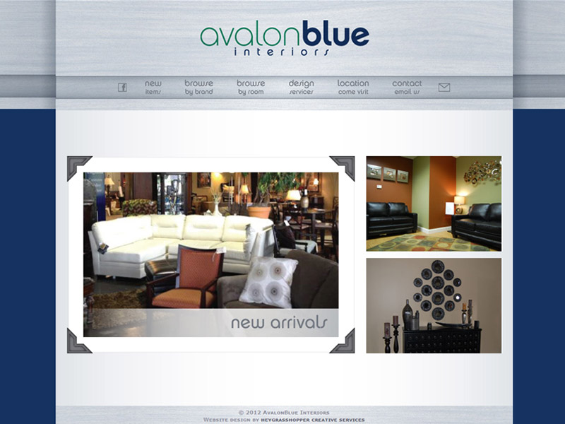 AvalonBlue Interiors Website