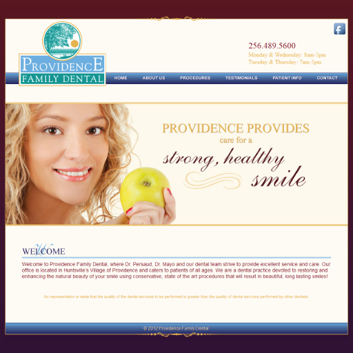 Providence Family Dental Website